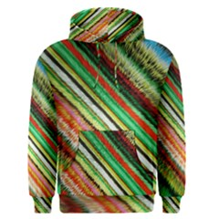 Colorful Stripe Extrude Background Men s Pullover Hoodie