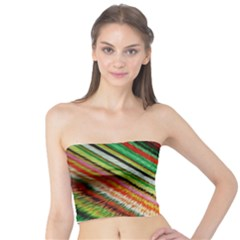 Colorful Stripe Extrude Background Tube Top