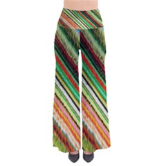 Colorful Stripe Extrude Background Pants