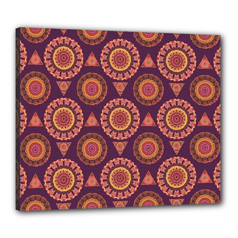Abstract Seamless Mandala Background Pattern Canvas 24  x 20