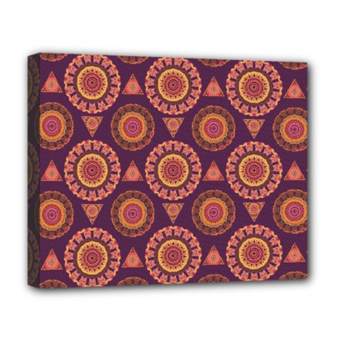 Abstract Seamless Mandala Background Pattern Deluxe Canvas 20  x 16