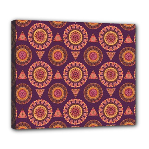 Abstract Seamless Mandala Background Pattern Deluxe Canvas 24  x 20