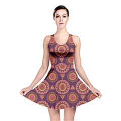 Abstract Seamless Mandala Background Pattern Reversible Skater Dress