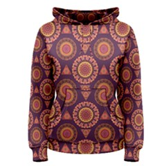 Abstract Seamless Mandala Background Pattern Women s Pullover Hoodie