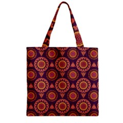 Abstract Seamless Mandala Background Pattern Zipper Grocery Tote Bag
