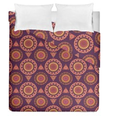 Abstract Seamless Mandala Background Pattern Duvet Cover Double Side (queen Size)