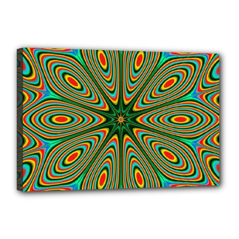 Vibrant Seamless Pattern  Colorful Canvas 18  X 12