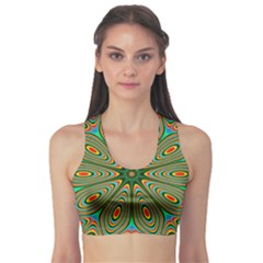 Vibrant Seamless Pattern  Colorful Sports Bra