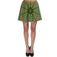 Vibrant Seamless Pattern  Colorful Skater Skirt