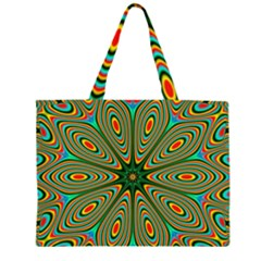 Vibrant Seamless Pattern  Colorful Large Tote Bag