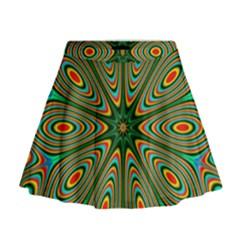 Vibrant Seamless Pattern  Colorful Mini Flare Skirt