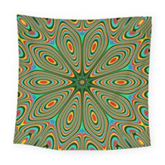 Vibrant Seamless Pattern  Colorful Square Tapestry (large)