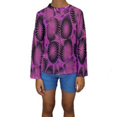Self Similarity And Fractals Kids  Long Sleeve Swimwear