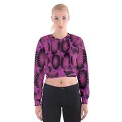 Self Similarity And Fractals Women s Cropped Sweatshirt