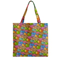 Fishes Cartoon Grocery Tote Bag