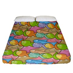 Fishes Cartoon Fitted Sheet (queen Size)