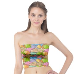 Fishes Cartoon Tube Top