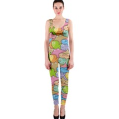 Fishes Cartoon OnePiece Catsuit