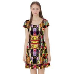 Brick House Mrtacpans Short Sleeve Skater Dress