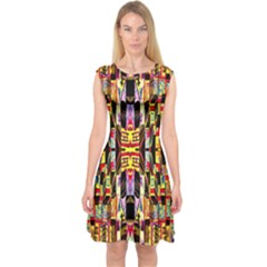 Brick House Mrtacpans Capsleeve Midi Dress