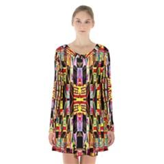 Brick House Mrtacpans Long Sleeve Velvet V Neck Dress