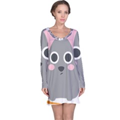 Mouse Grey Face Long Sleeve Nightdress