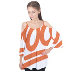 Number 100 Orange Flutter Tees