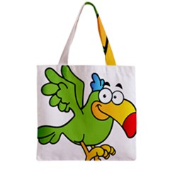 Parrot Cartoon Character Flying Grocery Tote Bag