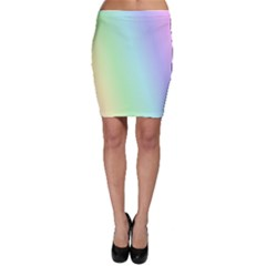 Multi Color Pastel Background Bodycon Skirt