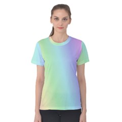 Multi Color Pastel Background Women s Cotton Tee