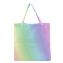 Multi Color Pastel Background Grocery Tote Bag