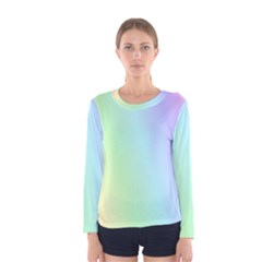 Multi Color Pastel Background Women s Long Sleeve Tee