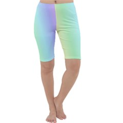 Multi Color Pastel Background Cropped Leggings