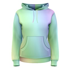Multi Color Pastel Background Women s Pullover Hoodie
