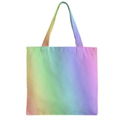 Multi Color Pastel Background Zipper Grocery Tote Bag