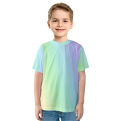 Multi Color Pastel Background Kids  Sport Mesh Tee