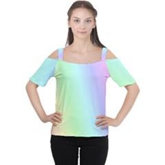 Multi Color Pastel Background Women s Cutout Shoulder Tee
