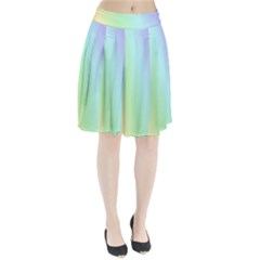 Multi Color Pastel Background Pleated Skirt