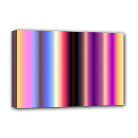 Multi Color Vertical Background Deluxe Canvas 18  x 12
