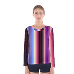 Multi Color Vertical Background Women s Long Sleeve Tee