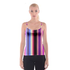 Multi Color Vertical Background Spaghetti Strap Top