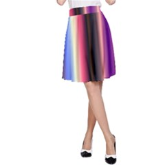 Multi Color Vertical Background A-Line Skirt