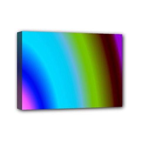 Multi Color Stones Wall Multi Radiant Mini Canvas 7  X 5