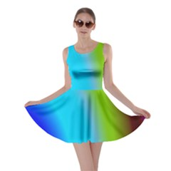 Multi Color Stones Wall Multi Radiant Skater Dress