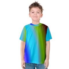 Multi Color Stones Wall Multi Radiant Kids  Cotton Tee