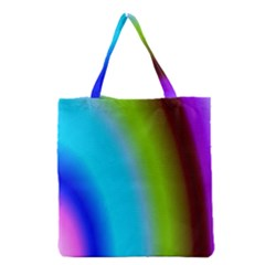Multi Color Stones Wall Multi Radiant Grocery Tote Bag