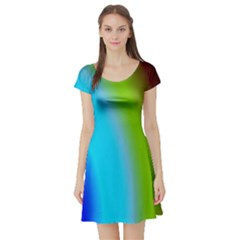 Multi Color Stones Wall Multi Radiant Short Sleeve Skater Dress