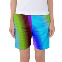 Multi Color Stones Wall Multi Radiant Women s Basketball Shorts