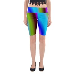 Multi Color Stones Wall Multi Radiant Yoga Cropped Leggings