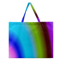 Multi Color Stones Wall Multi Radiant Zipper Large Tote Bag
